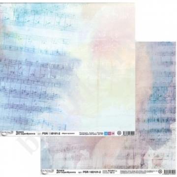 """Бумага двусторонняя """"Звуки музыки"""" PSR 160101-2 30х30см (2 листа)"""
