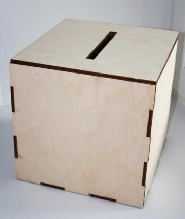 Короб для денежных подарков простой 25х25х25см
