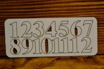 Цифры арабские №1 выс.2см (картон)