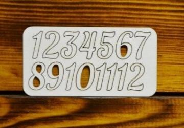 Цифры арабские №9 выс.2см (картон)
