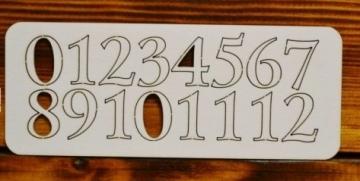 Цифры арабские №10 выс.2.3см (картон)