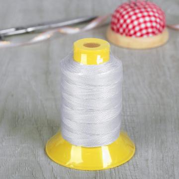 Швейные нитки (полиэстер), обувные 1500D/2 50 я  45,7 м цвет белый