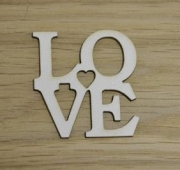 "Вырубка ""Love"" 4х3.8см (2шт.)"