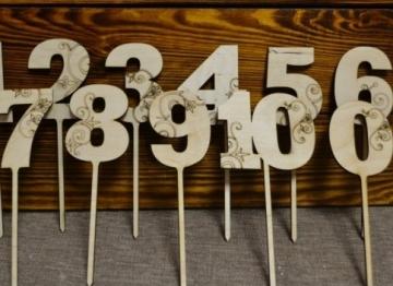 """Топпер """"3"""" (высота 20 см)"""
