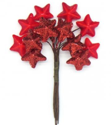 Декоративный букетик звезды красные 175a