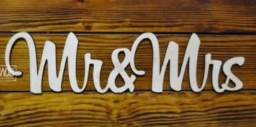 """Слово """"Mr&Mrs"""" (длина 40см)"""