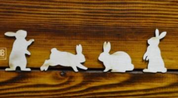 """Заготовка """"Набор из 4 зайцев"""" 3-5см"""