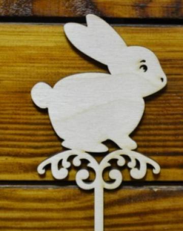 "Топпер ""Пасхальный заяц"" (ширина 8см)"