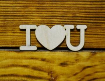 Мини-слово I love you (8см)