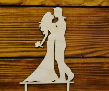 """Топпер """"Жених и невеста пара"""" 20х11см"""