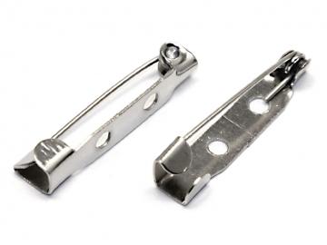 Заготовка для броши DC-310 2.5 см (5 шт.) под серебро