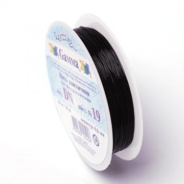 Эластичная нить 1 мм черная (18 метров)