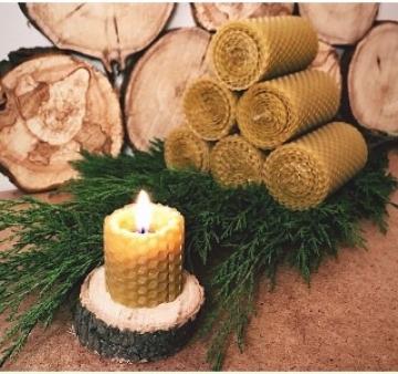 Свеча из вощины набор (2 столбика - 7 и 13см)