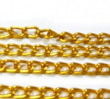 Цепь MA-04 6.5х3.8 мм (1 метр) под золото