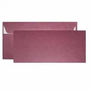 Заготовка для открытки двойная с конвертом бордовая 9.6х21см