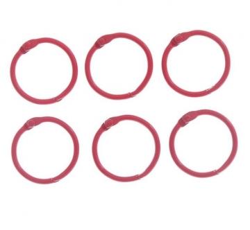 Кольца для альбома 2 шт. 30 мм Красные