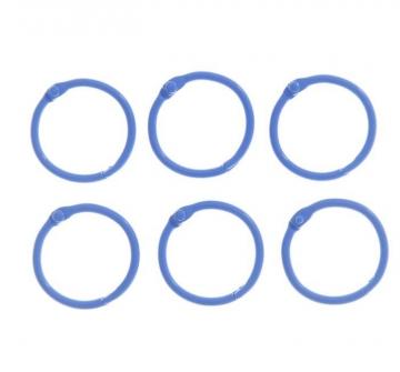 Кольца для альбома 2 шт. 30 мм Синие