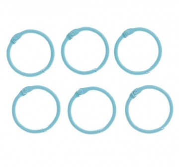 Кольца для альбома 30 мм (2шт.) Светло-голубые