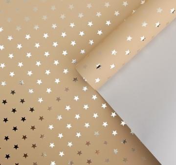 Бумага металлизированная кремово-золотой 50х100см