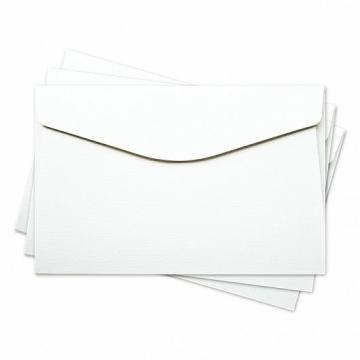 "Заготовка для конверта 11х17см ""Лён"" белый"