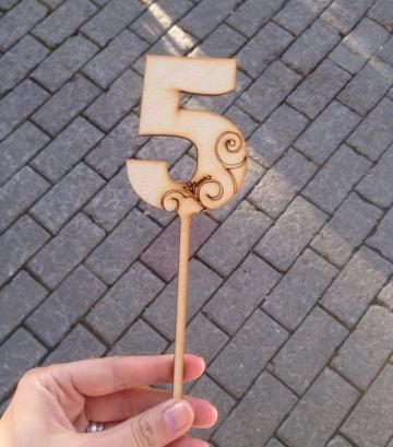 """Топпер """"5"""" (высота 20 см)"""