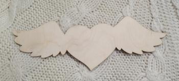 """Декоративный элемент """"Сердце с крыльями"""" (длина 30см)"""
