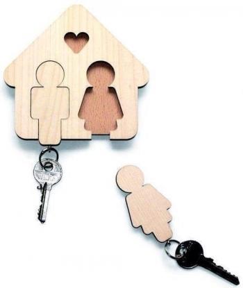 Ключница на два брелока 10х10 см