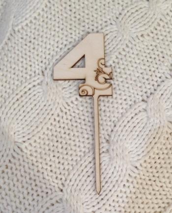 """Топпер """"4"""" (высота 20 см)"""