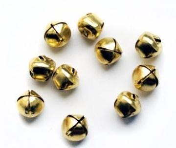 Бубенчики 12 мм под золото (10 шт.)