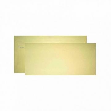 Заготовка для открытки двойная с конвертом бежевая 9.6х21см