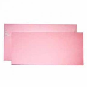 Заготовка для открытки двойная с конвертом розовая 9.6х21см