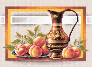 """Набор для вышивания """"Натюрморт с персиками"""" Н-0295 38х24.5см"""