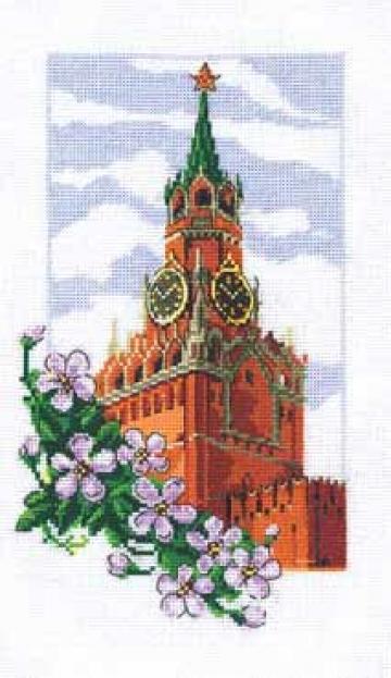 """Набор для вышивания """"Спасская башня"""" 7-100 16х28см"""