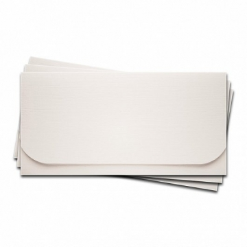 """Заготовка для конверта №6 """"Лён"""" белый"""