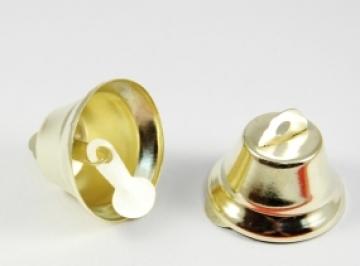 Колокольчики NL-16 16 мм под золото (10 шт.)