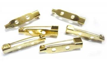 Заготовка для броши DC-310 2.5 см (5 шт.) под золото
