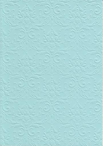 """Бумага с тиснением А4 """"Дамасский узор"""" светло-голубой (1лист)"""