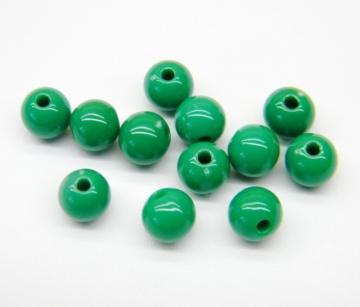 Бусины акрил BSA-08 8 мм 07 зеленый (50 шт.)