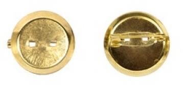 Заготовка для броши DC-200 диаметр 2 см (3 шт.) под золото
