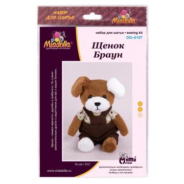 Набор для шитья игрушки DG-0197 Щенок Браун