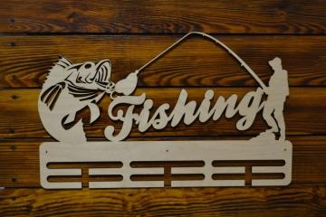 "Медальница спортивная ""Рыбалка Fishing"" 50см"