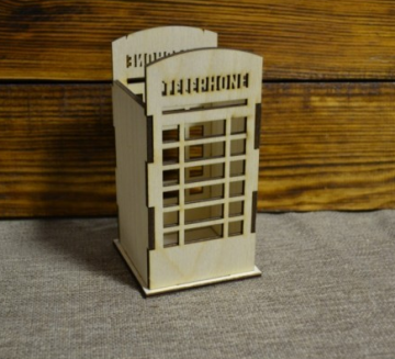 "Карандашница ""Телефонная будка"", 7х7х14,5 см"
