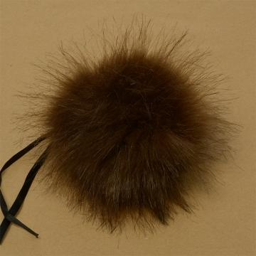 Помпон иск.мех 15см PIP04 коричневый