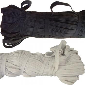 Резинка бельевая 0008 Б 8 мм белая (5 метров)