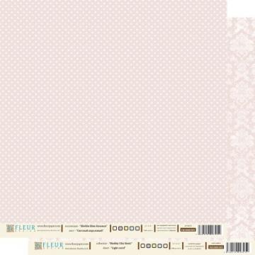 "Бумага двусторонняя ""Шебби шик базовая. Светлый коралловый"" 30х30см (2 листа)"