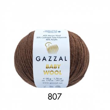 Пряжа Baby Wooll Gazzal 807 (Турция)