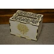 Короб для денежных подарков с кудряшками 25х18х16см