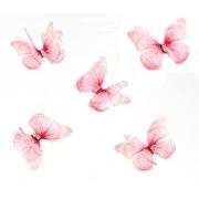 Бабочки шифоновые 3 см розовые, 1 шт.