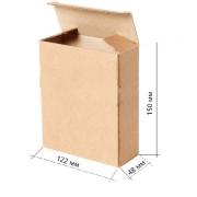 Коробка самосборная крафт 12.2х4.8х1.5см