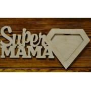 """Рамка для фото """"Супермама"""" (фото 10х10 см)"""